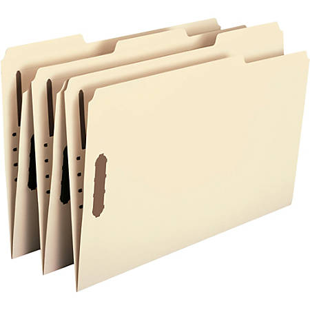 Smead® Manila Fastener Folders, Legal Size, 100% Recycled, Box Of 50