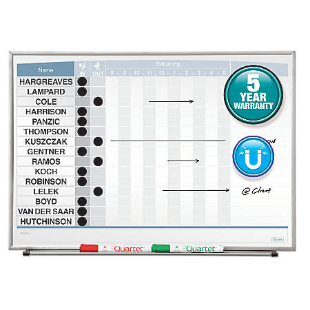 "Quartet® Matrix® In/Out Board, 23"" x 16"""