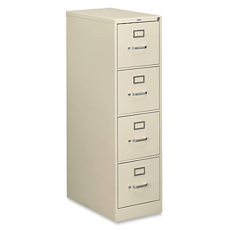 "HON® 510 Series Vertical File, 4 Drawers, 25"" D, Putty"