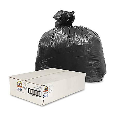 Genuine Joe Linear Low-Density Trash Liners, 7-10 Gallons, Black, Carton Of 1000