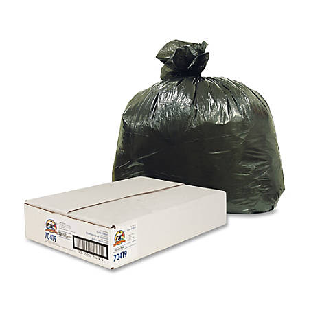 Genuine Joe Linear Low-Density Trash Liners, 31-33 Gallons, Black, Carton Of 250