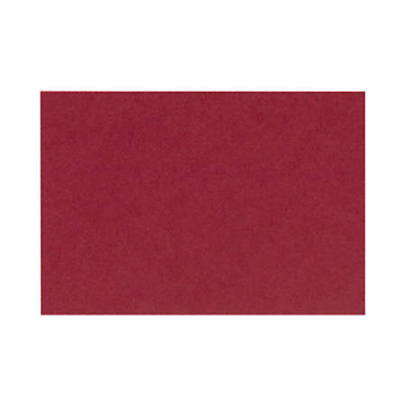 "LUX Flat Cards, A2, 4 1/4"" x 5 1/2"", Garnet Red, Pack Of 500"
