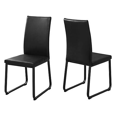 Monarch Specialties Shasha Dining Chairs, Black, Set Of 2 Chairs