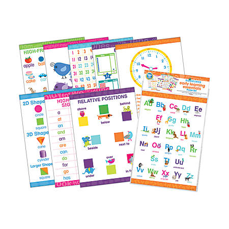 Barker Creek® Early Learning Essentials Poster Set, Pack Of 9