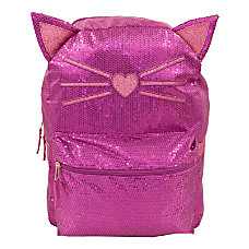 Cat Sequin Backpack With 3 D