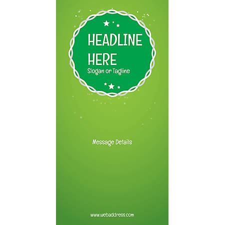 Custom Vertical Display Banner, Green Background