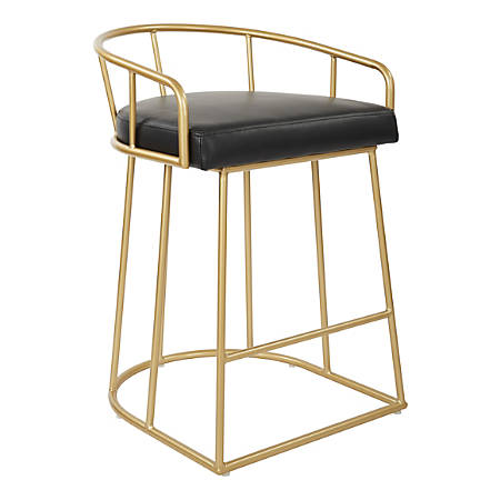 Magnificent Ave Six Luna 31 1 2H Counter Stool Black Gold Item 8837561 Unemploymentrelief Wooden Chair Designs For Living Room Unemploymentrelieforg