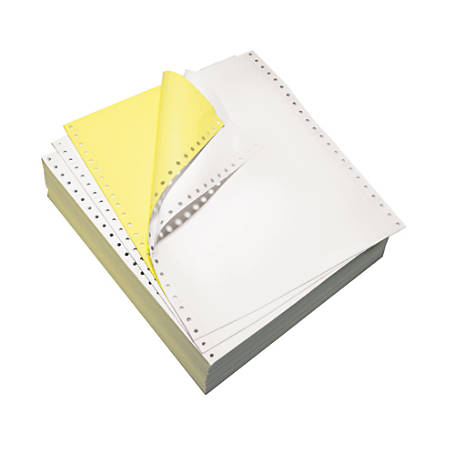 """Domtar Continuous Form Paper, 9 1/2"""" x 11"""", 2-Part Carbonless, White/Canary, Pack Of 1,700 Sheets"""