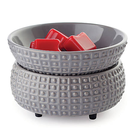 Candle Warmers Etc 2-In-1 Classic Fragrance Warmers, Slate, Pack Of 6 Warmers