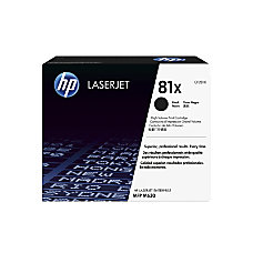 HP 81X High Yield Black Toner