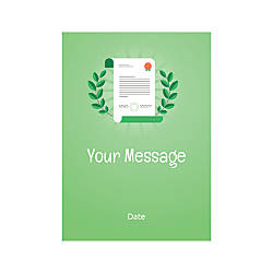 Flat Photo Greeting Card Certificate Vertical