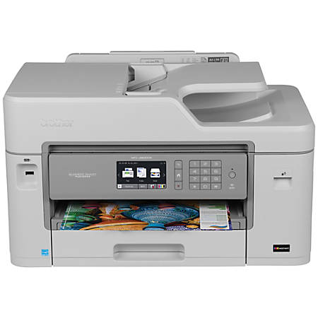Brother® MFC-J5830DW Business Smart™ Plus Wireless Color Inkjet All-In-One Printer, Copier, Scanner, Fax, With INKvestment Cartridges