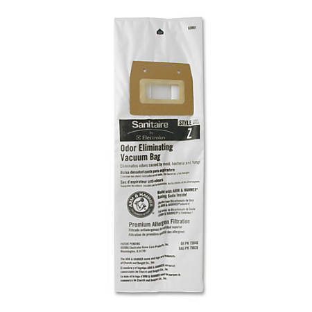 Electrolux Sanitaire® Style Z Vacuum Bags, White, 5 Bags Per Pack, Carton Of 3