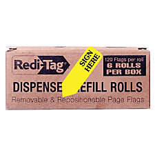 Redi Tag Sign Here Arrow Flags