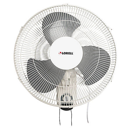 Lorell 16 3 Speed Wall Mount Fan With Pull Chain White