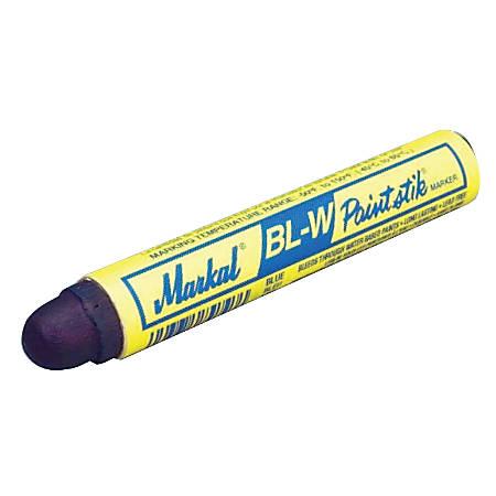 Paintstik BL-W Markers, 11/16 in dia, 4 3/4 in, Blue