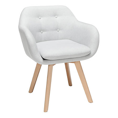 Sensational Ofm 161 Collection Mid Century Modern Tufted Accent Chairs With Arms Light Gray Fabric Beechwood Frame Set Of 2 Chairs Item 8841959 Andrewgaddart Wooden Chair Designs For Living Room Andrewgaddartcom