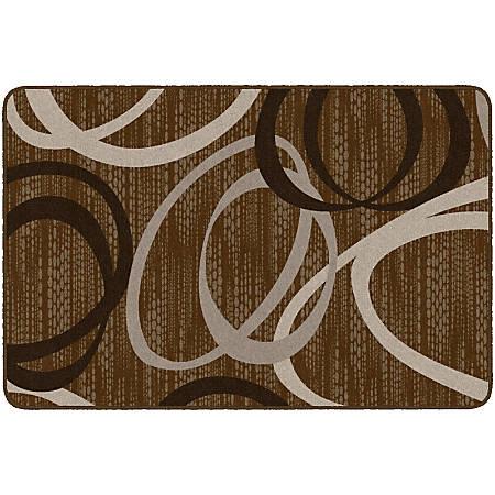 Flagship Carpets Printed Rug, Duo, 4'H x 6'W, Chocolate