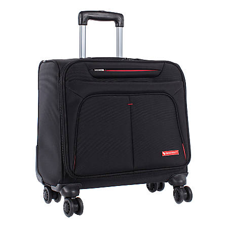 """Swiss Mobility Purpose Rolling Business Case With 15.6"""" Laptop Pocket, Black"""