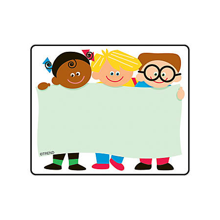 "TREND Name Tags, 3"" x 2 1/2"", Kids, 36 Tags Per Pack, Set Of 6 Packs"