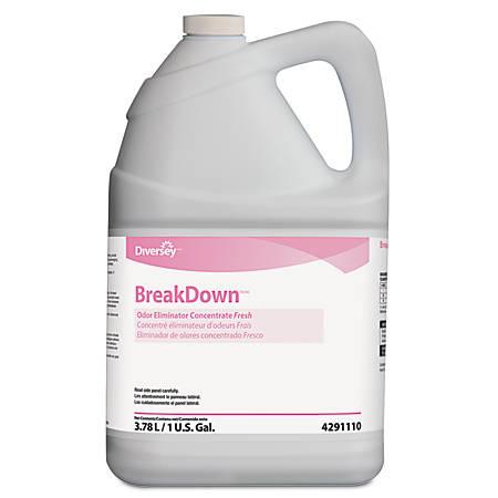Diversey™ Breakdown™ Butcher's Odor Eliminator, Fresh Scent, 1 Gallon, Case Of 4