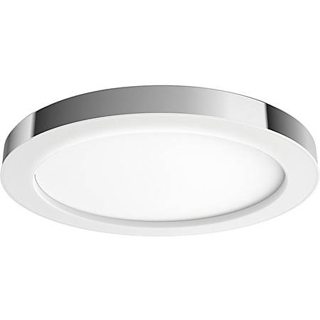 """Philips Adore Ceiling Light - 2.4"""" Height - 16"""" Width - 40 W LED Bulb - 2400 Lumens - Metal, Synthetic - Wall Mountable - Chrome - for Bathroom, Home, Wall"""