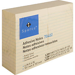 Sparco Ruled Adhesive Notes 100 4