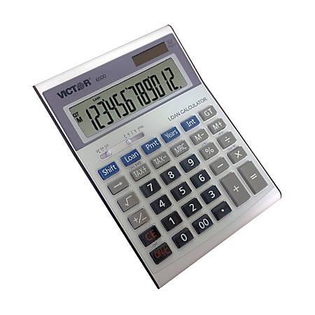Victor® 6500 12-Digit Executive Desktop Financial Calculator With Loan Wizard