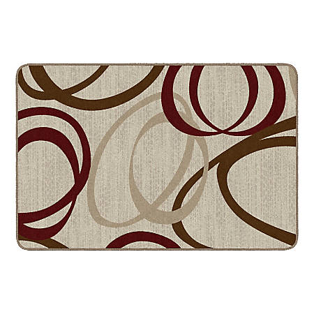 Flagship Carpets Printed Rug, Duo, 4'H x 6'W, Pearl