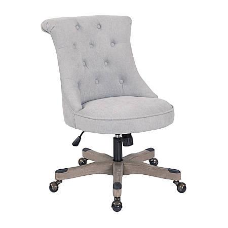 Office Star™ Hannah Tufted Office Chair, Fog/Gray