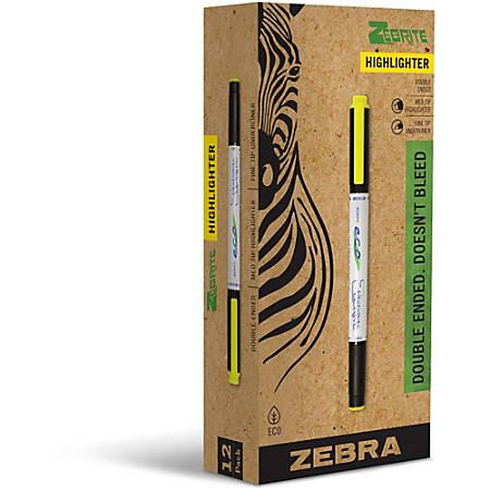 Zebra® Pen Highlighter, Yellow