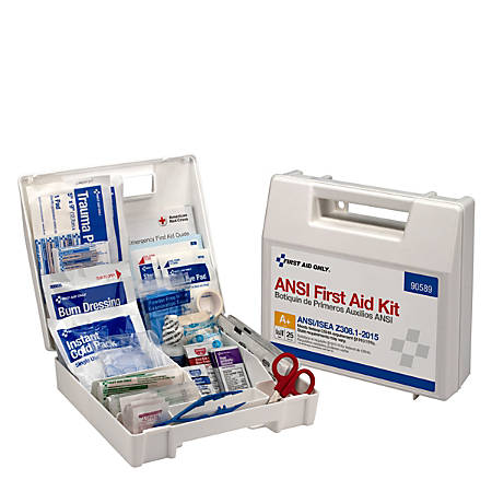 First Aid Only 25-Person Bulk Plastic First Aid Kit - ANSI Compliant - 141 x Piece(s) For 25 x Individual(s) - 1 Each