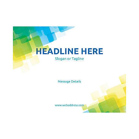 Custom Flyer, Horizontal, Overlap Squares
