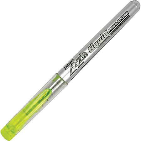 Zebra Pen Zazzle Liquid Highlighters - Chisel Marker Point Style - Yellow - Silver Barrel
