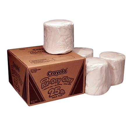 Crayola® Air-Dry Clay, White, 25 Lb