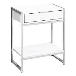 Fresh High Gloss White Bedside Table