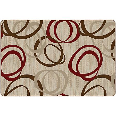 Flagship Carpets Printed Rug, Duo, 6'H x 9'W, Pearl