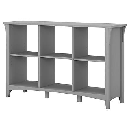 Bush Furniture Salinas 6 Cube Organizer, Cape Cod Gray, Standard Delivery