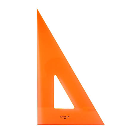 """Pacific Arc Professional Fluorescent Triangles, 16"""", 30/60°, Pack Of 2"""