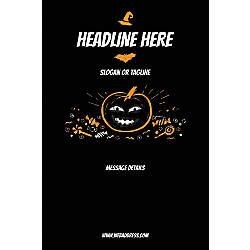 Custom Poster Black Halloween Vertical