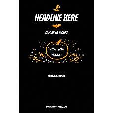 Custom Poster Black Halloween Vertical
