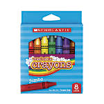Scholastic Washable Crayons, Assorted, Box Of 8