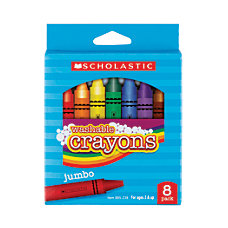 Scholastic Washable Crayons Assorted Box Of