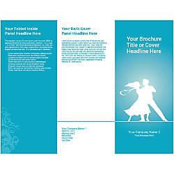 Customizable Trifold Brochure Blue Dance