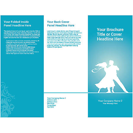 Customizable Trifold Brochure, Blue Dance