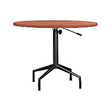 Safco RSVP Table Top Round Cherry