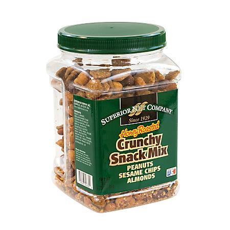 Superior Nut Nuts, Honey-Roasted Crunch Snack Mix, 28 Oz Tub