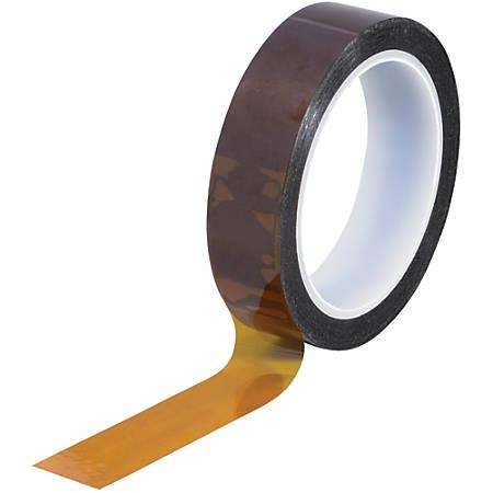 """Kapton® Sealing Tape, 3"""" Core, 1"""" x 108', 2 mils, Amber"""