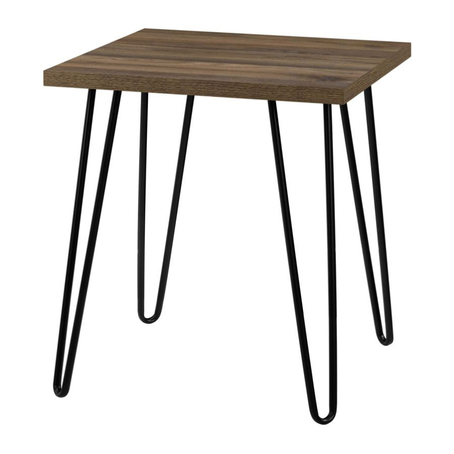 Miraculous Ameriwood Home Owen Retro End Table Square Walnut Black Andrewgaddart Wooden Chair Designs For Living Room Andrewgaddartcom