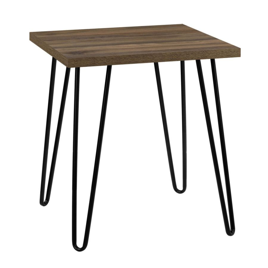 Wondrous Ameriwood Home Owen Retro End Table Square Walnut Black Andrewgaddart Wooden Chair Designs For Living Room Andrewgaddartcom